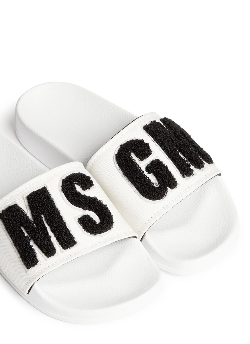 Msgm Slide Sandals Wide Range Of Cheap Price Cost Cheap Online How Much Online Outlet With Paypal Sale New Arrival oevlh4G