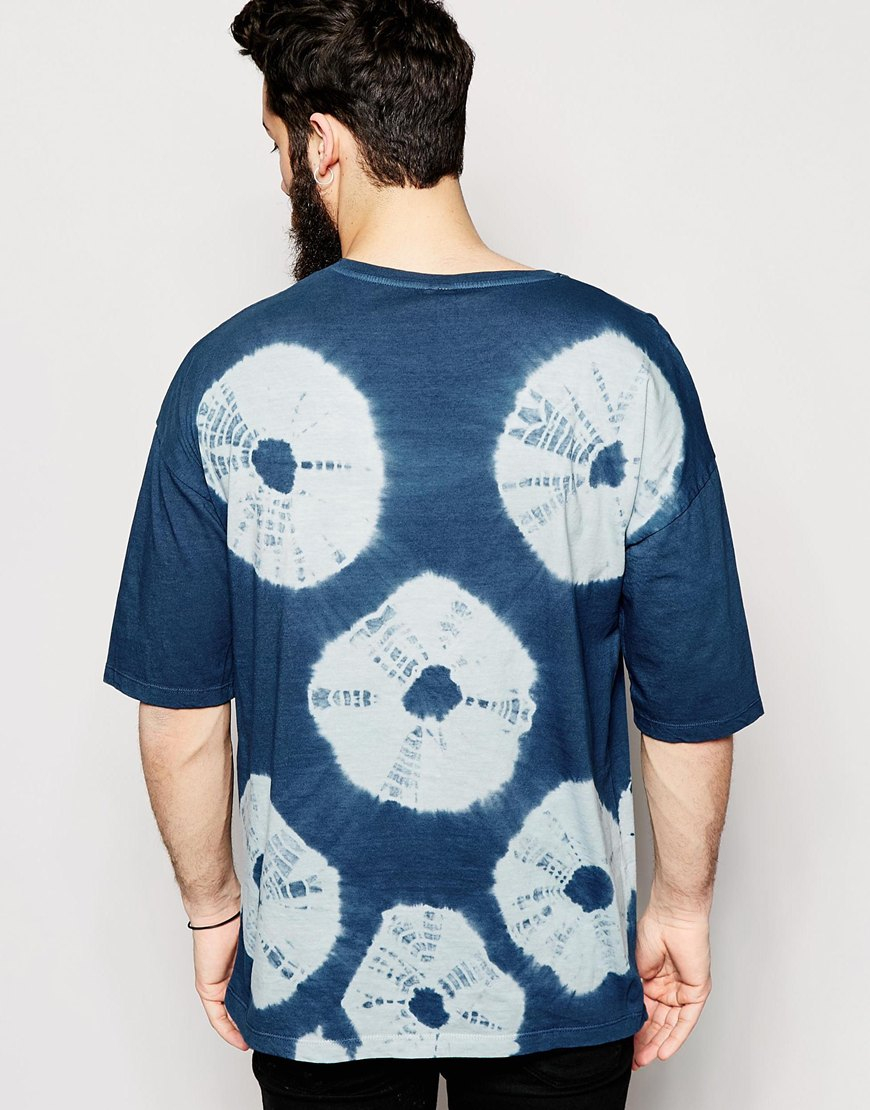 Asos t shirt with bleached tie dye wash and oversized fit for How to wash tie dye shirt after dying