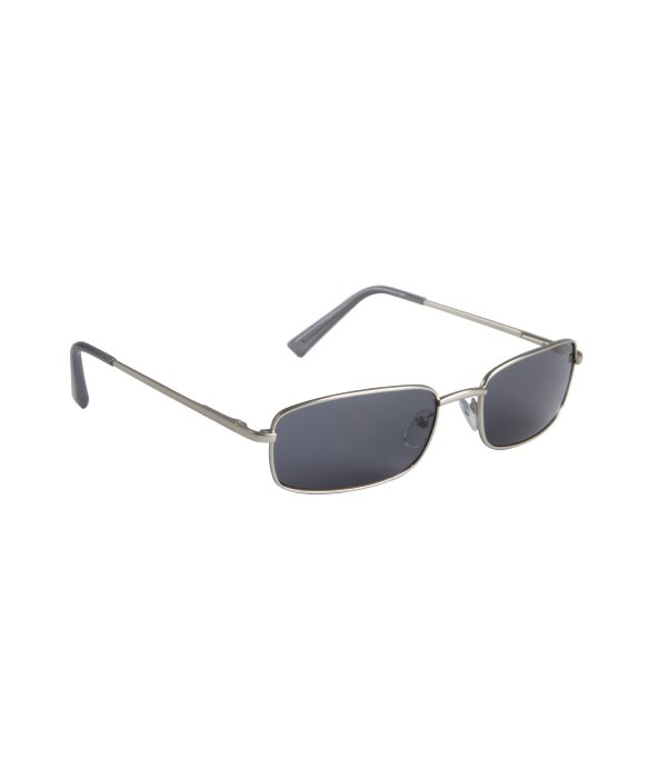 Lyst - Cole Haan Silver Metal Small Rectangular Sunglasses in ...