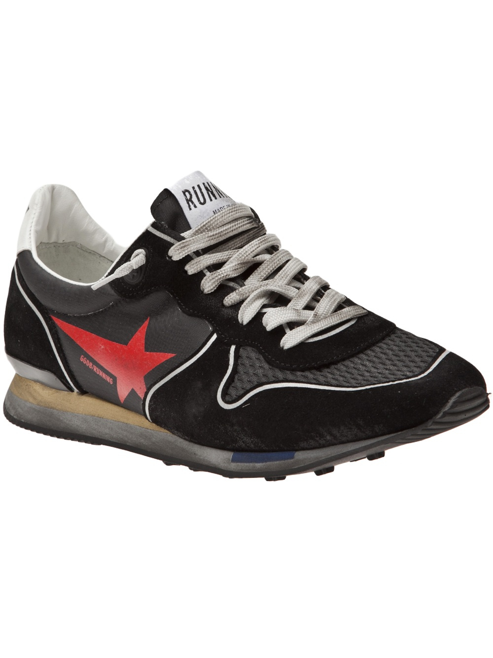 Golden goose deluxe brand Worn Look Running Shoes in Black ...