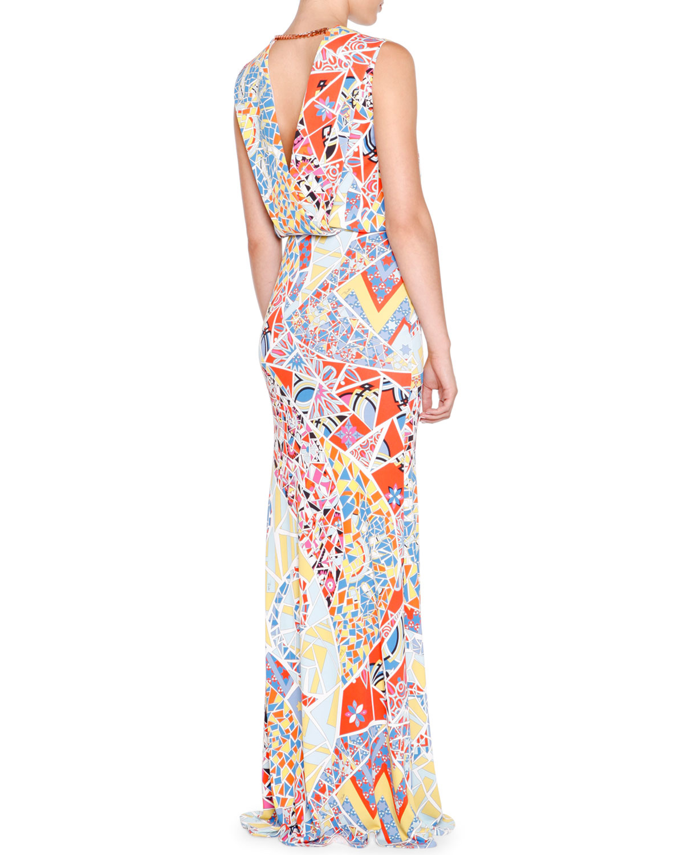 printed dress - Multicolour Emilio Pucci JXjeE