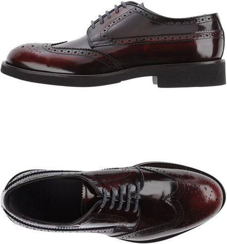 Kurt Geiger Maroon Lace Up Shoes