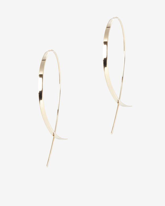 Lana Jewelry Small Flat Blake Hoop Earrings Fvbqhcov