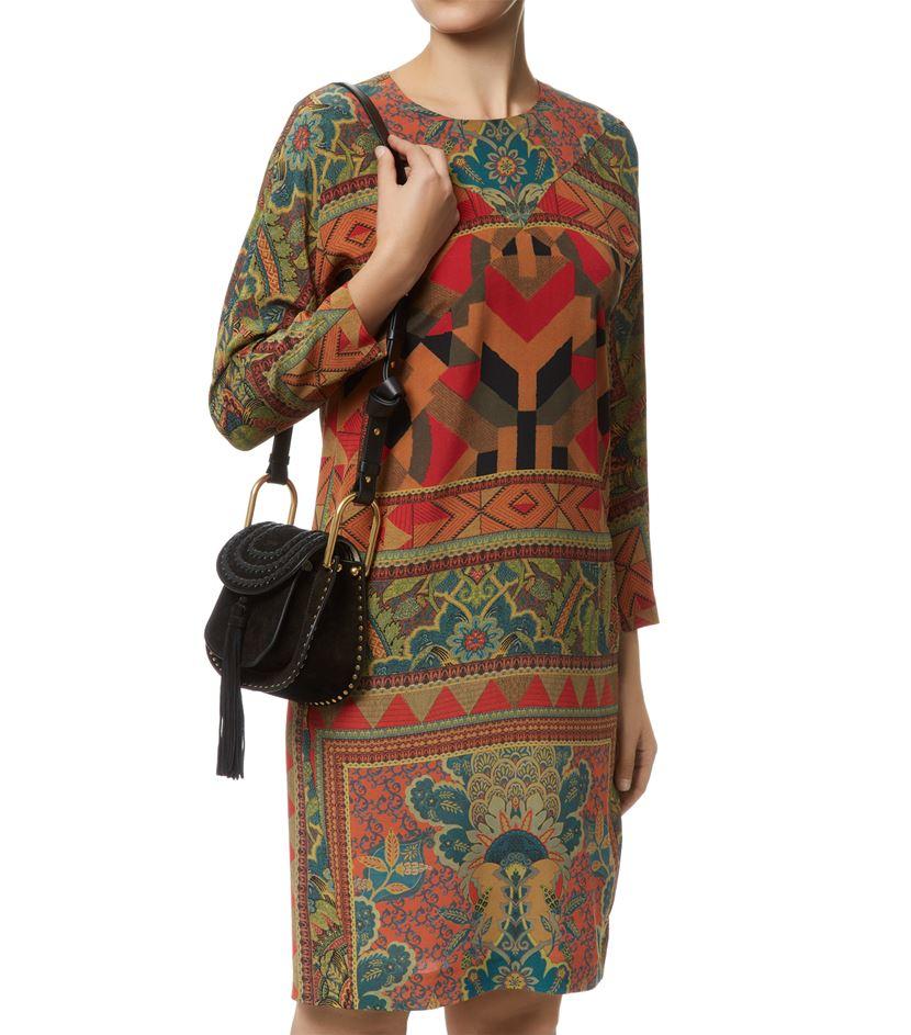 chloe red purse - Chlo�� Mini Hudson Suede Crossbody Bag in Black | Lyst