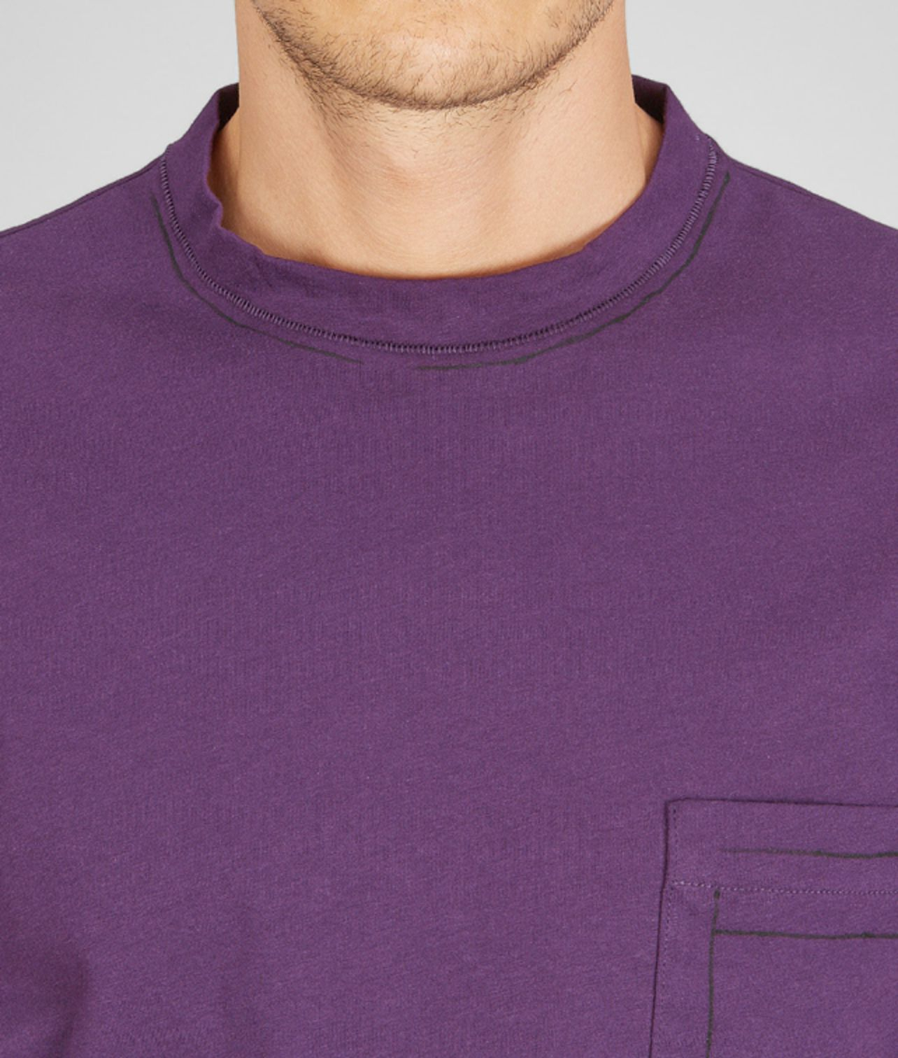 Lyst bottega veneta purpura painted organic cotton t for Bottega veneta t shirt