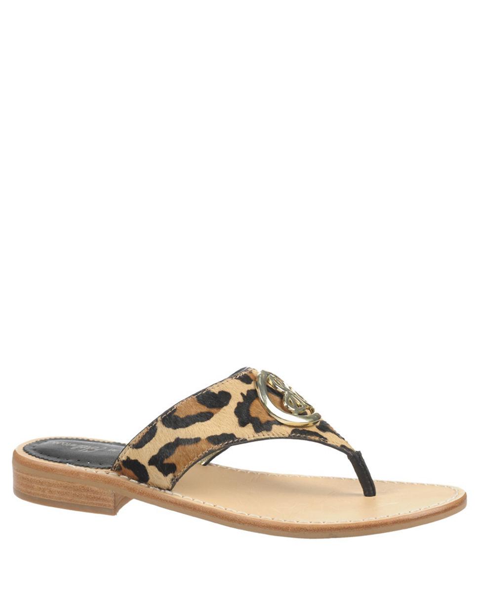 062bb6ff71e Ugg Australia Allaria Metallic Leopard Flat Sandals