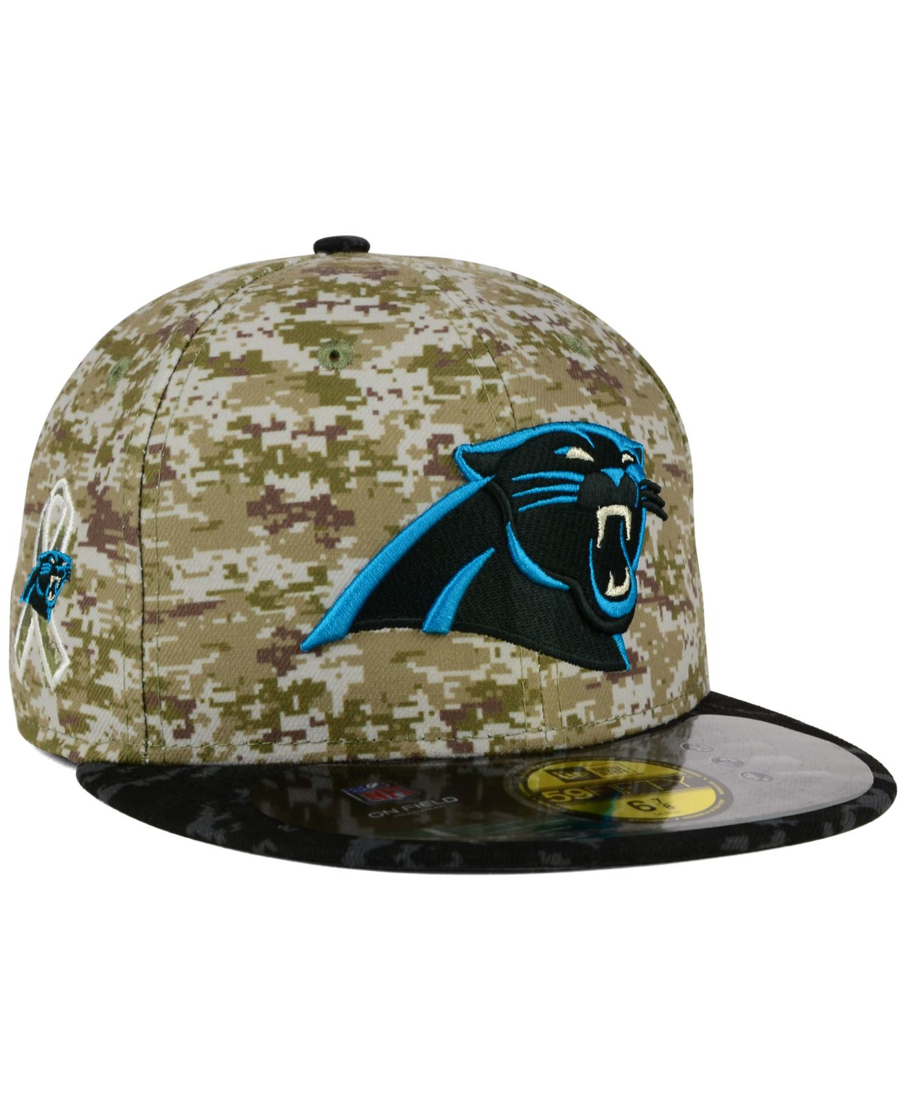 2c1b55d42dc ... spain lyst ktz carolina panthers salute to service 59fifty cap in green  ab348 31996