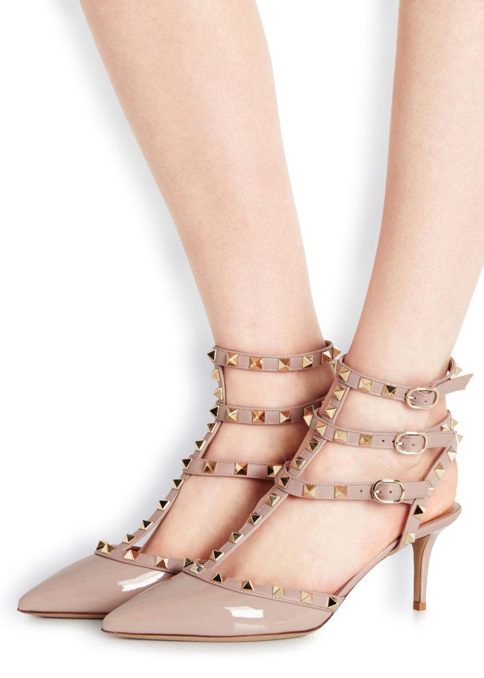 71d309cf8e0a Valentino Rockstud 65 Blush Patent Leather Pumps in Pink - Lyst