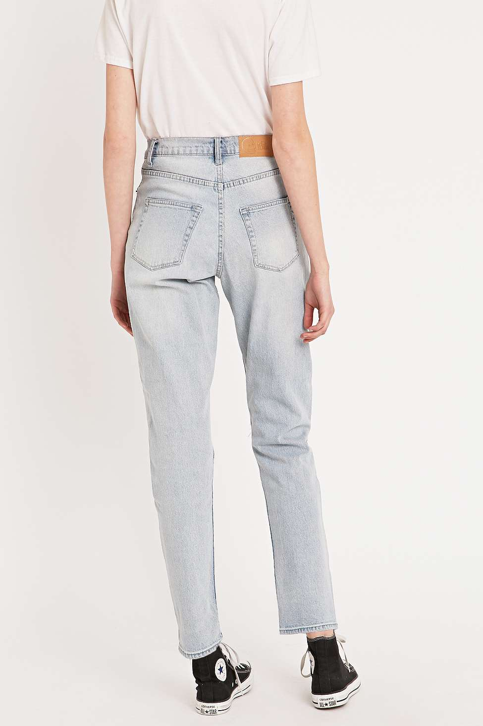 4407a1898a14 Cheap Monday Donna Ripped Extra Mile Blue Straight Leg Jeans in Blue ...