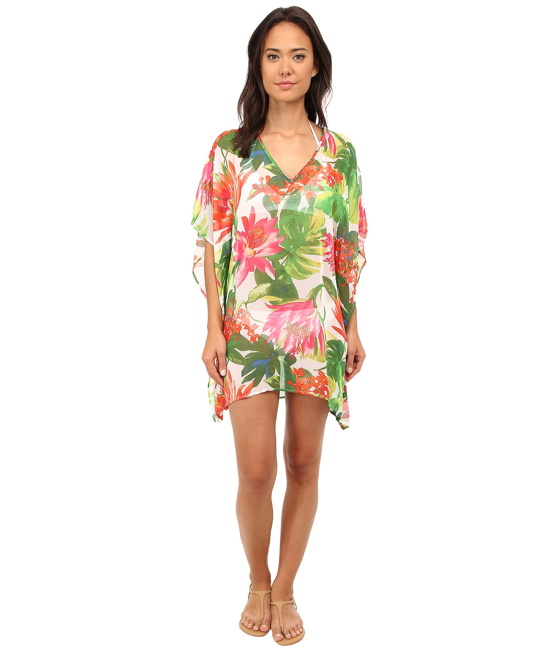 c6625041099f9 Lyst - Tommy Bahama White Tropical Tunic Cover-up in Green