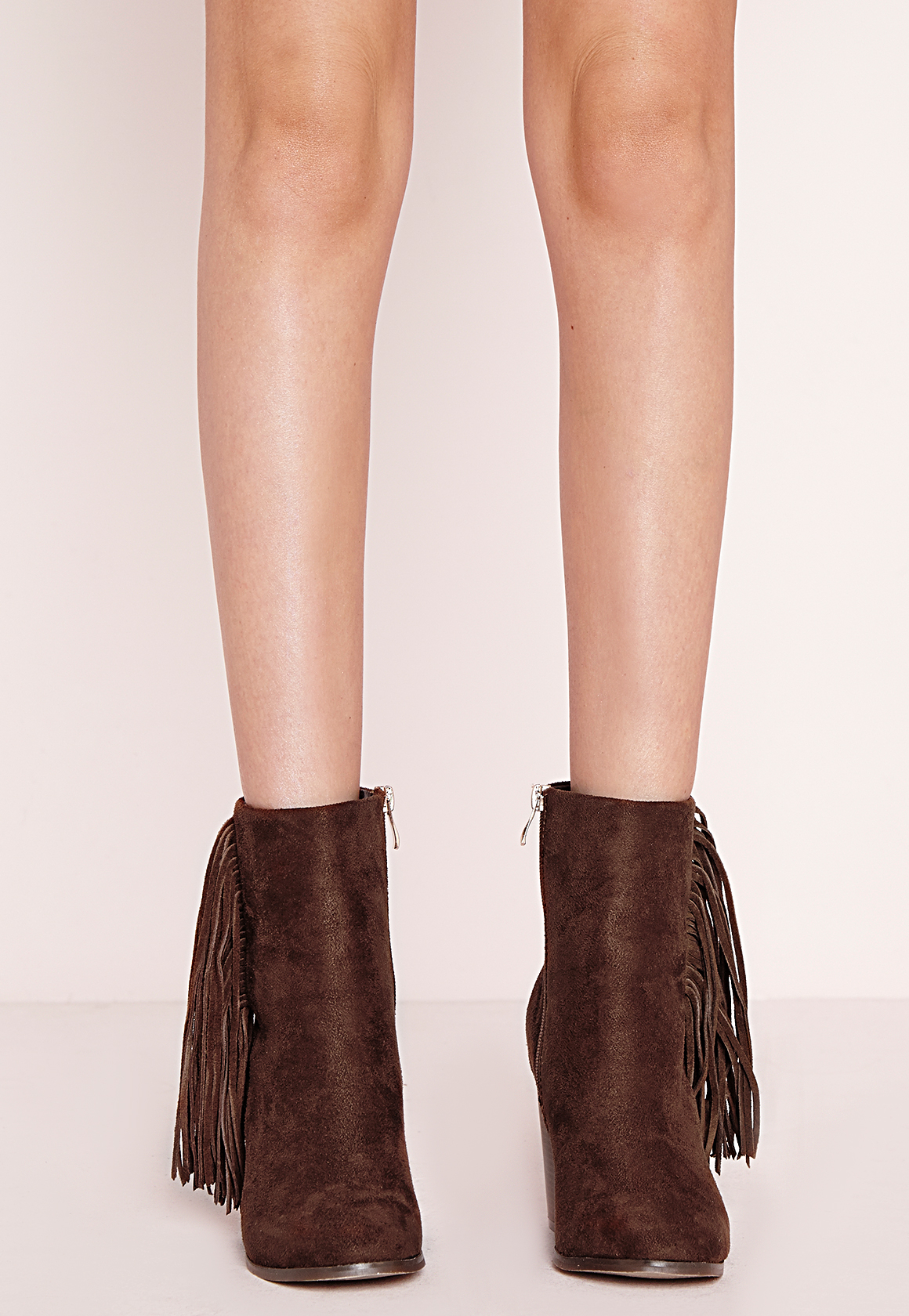 Missguided tassel side ankle boots brown in brown lyst - Missguided head office address ...