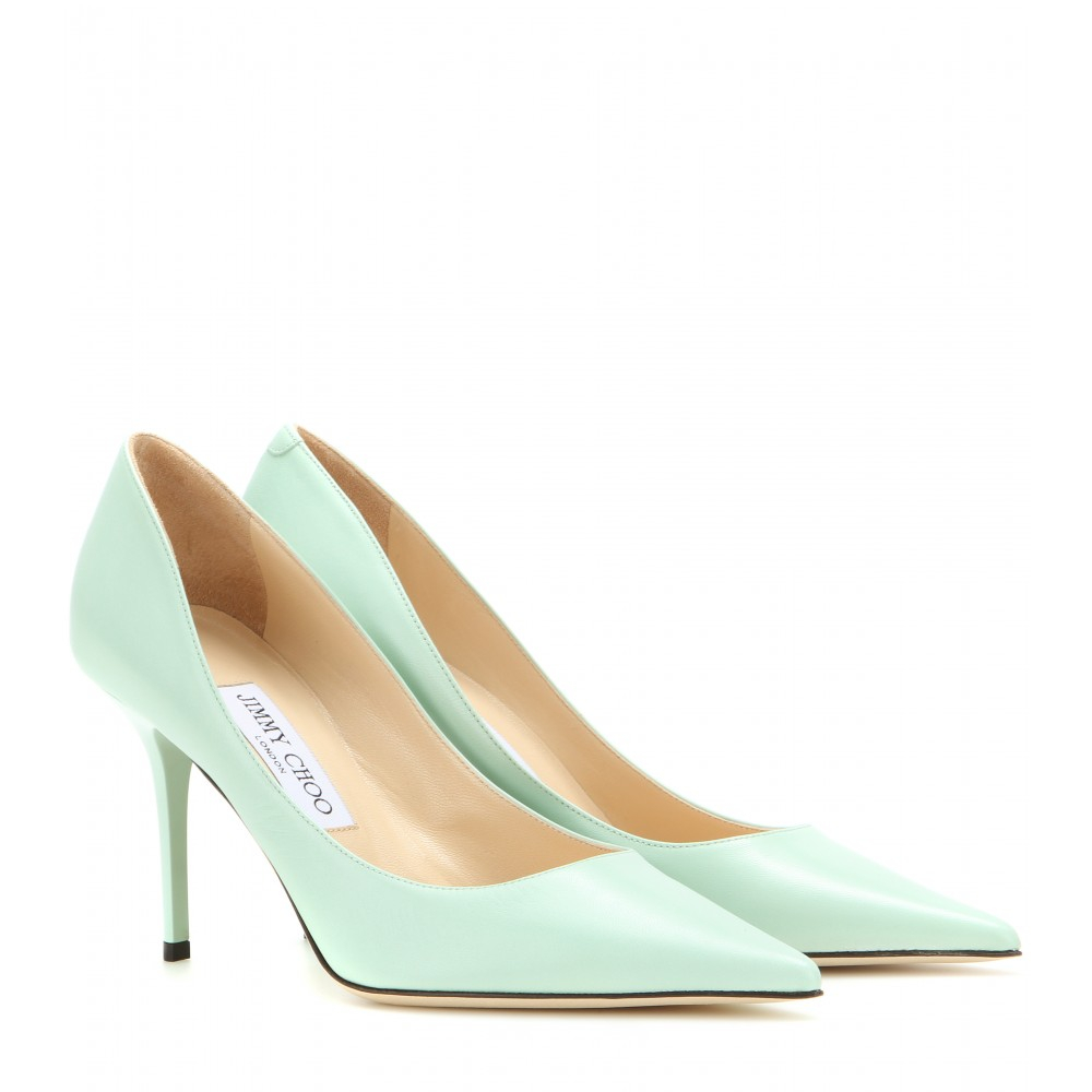 3500524092b5 Lyst - Jimmy Choo Agnes Leather Pumps in Green