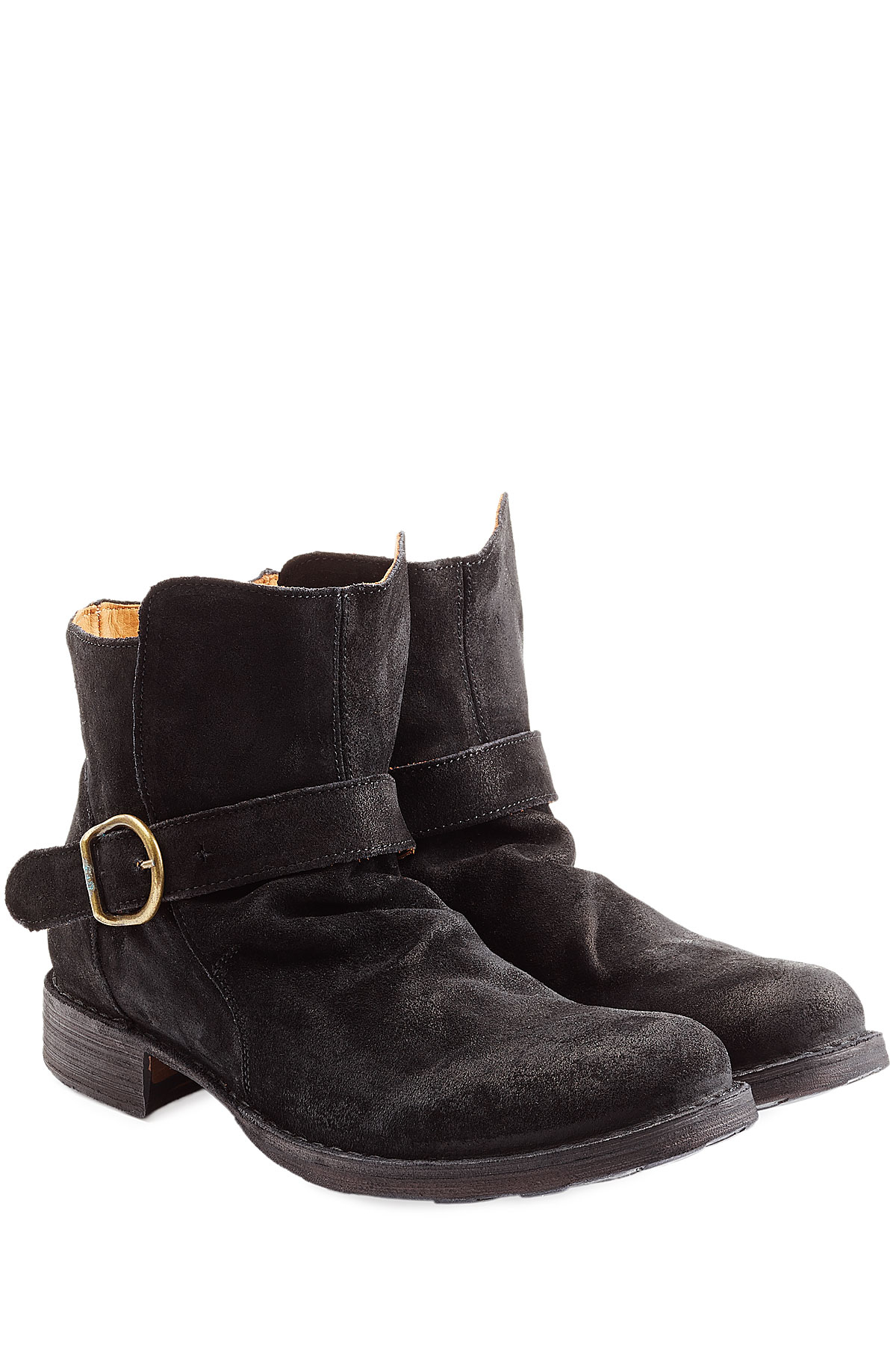 fiorentini baker suede buckle boots black in black for men save 21 lyst. Black Bedroom Furniture Sets. Home Design Ideas