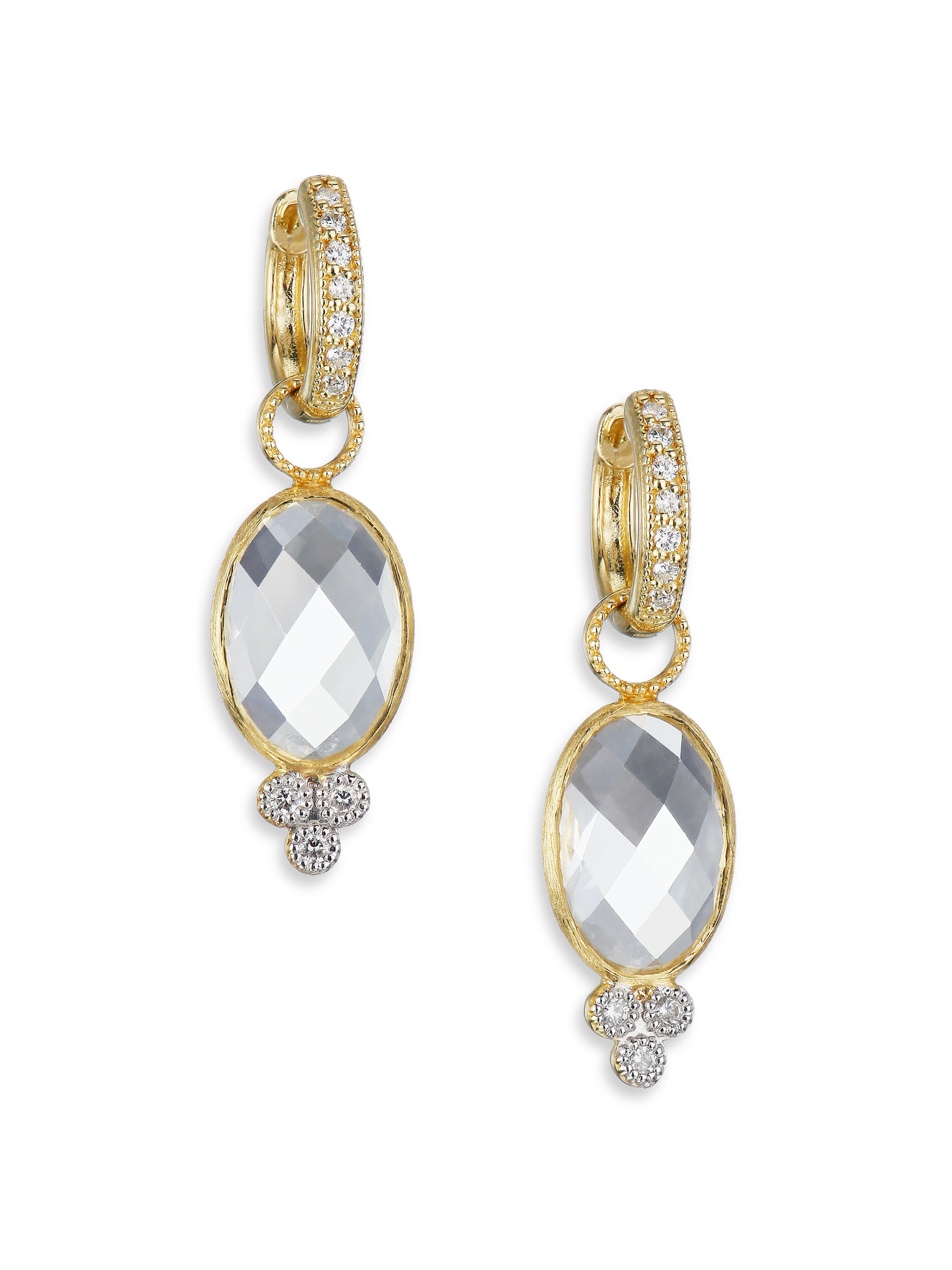 Jude Frances Provence White Topaz & Diamond Earring Charms