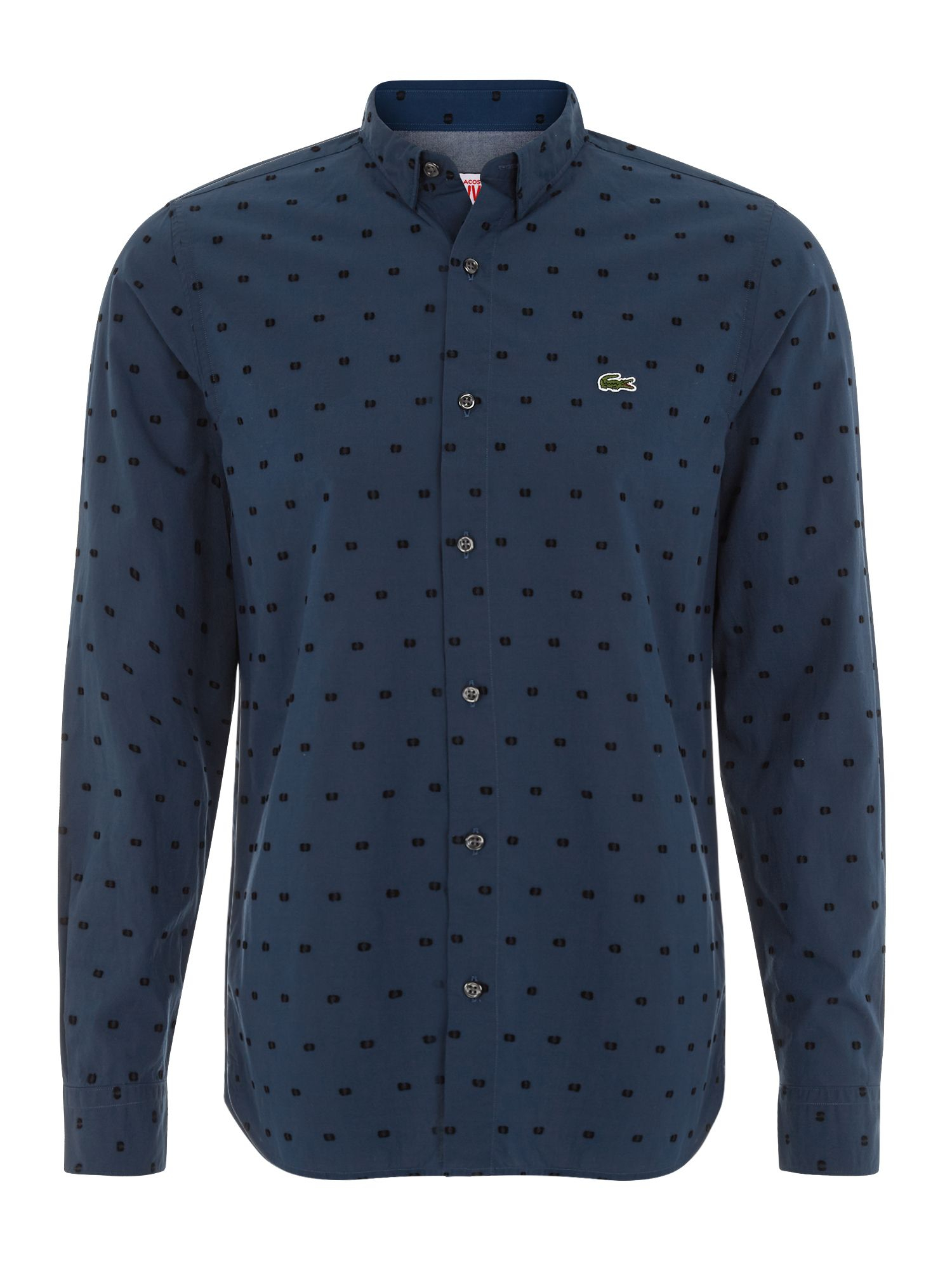 lacoste polka dot slim fit long sleeve button down shirt. Black Bedroom Furniture Sets. Home Design Ideas