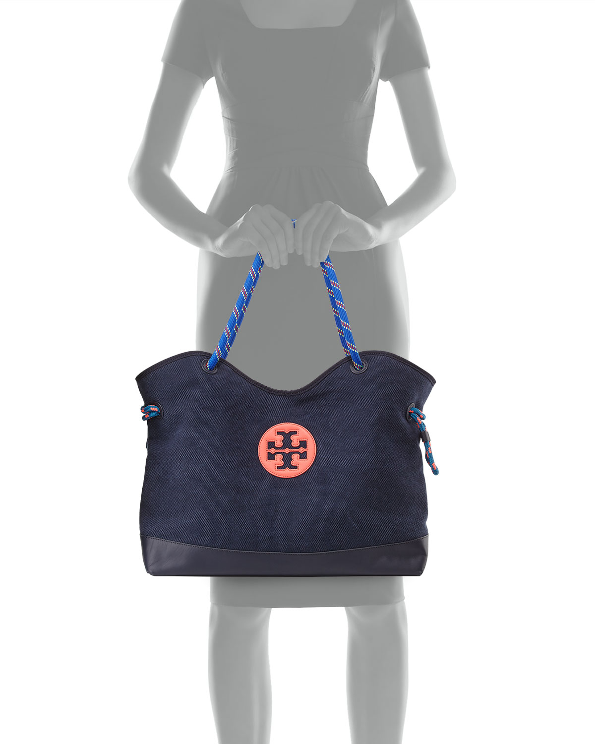 014e2f74de9a Lyst - Tory Burch Kellyn Canvas Tote Bag in Blue