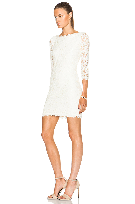 lyst diane von furstenberg zarita dress in white. Black Bedroom Furniture Sets. Home Design Ideas