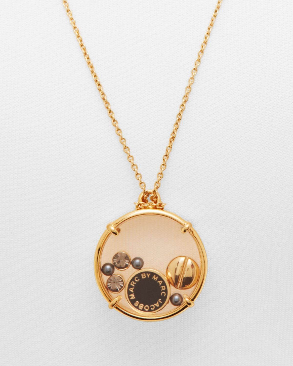 Lyst marc by marc jacobs floating charms pendant necklace 24 in gallery aloadofball Image collections