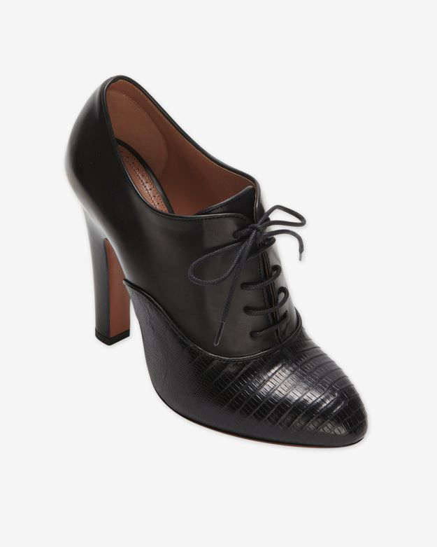 Lyst - Alaïa Lace Up Oxford Booties Black in Black