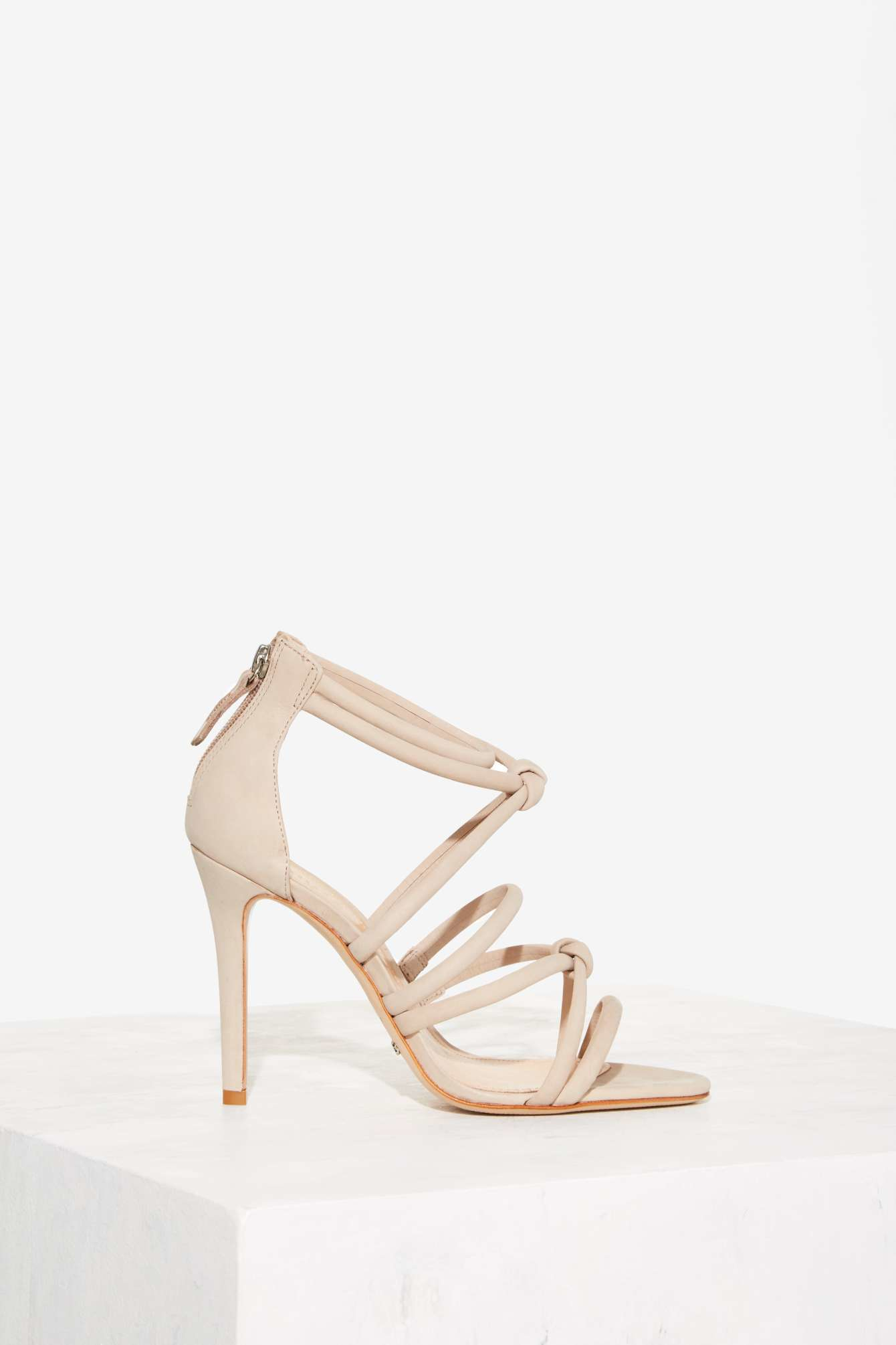 880e37a9b692c Lyst - Schutz Mindy Strappy Suede Heel - Nude in Natural