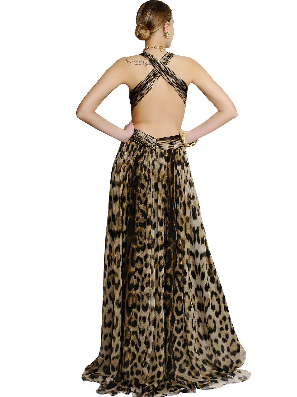 Silk Leopard Dress