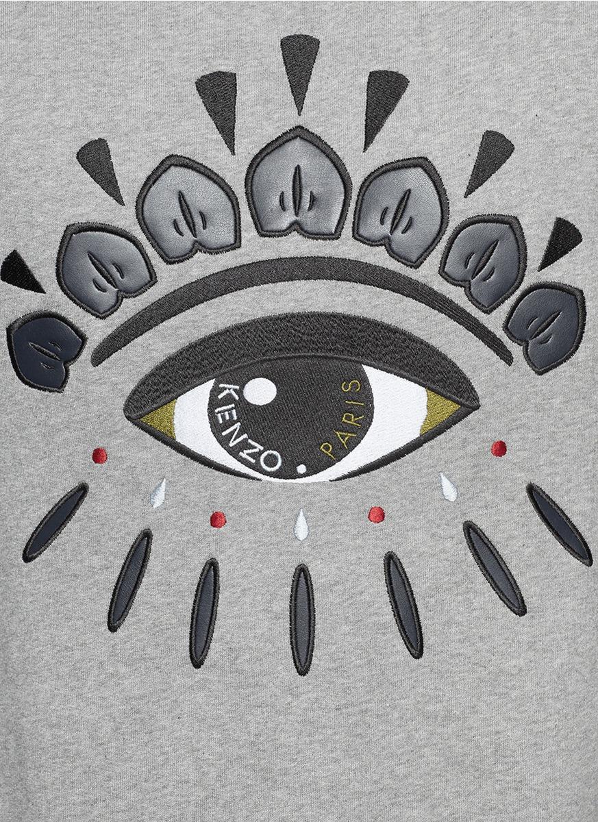 Lyst - Kenzo Graphic Eye Sweatshirt in Gray for Men