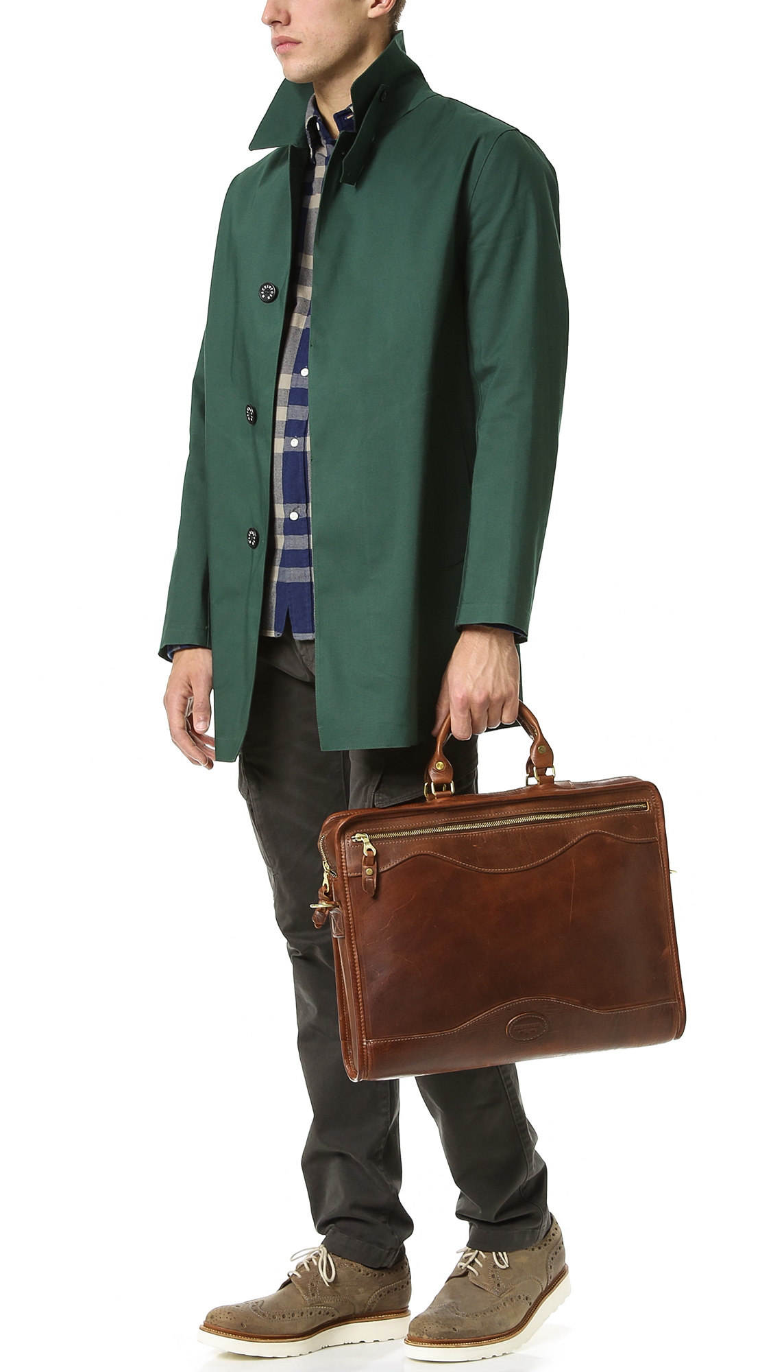Mackintosh Cotton Dunoon Bonded Raincoat in Green for Men ...