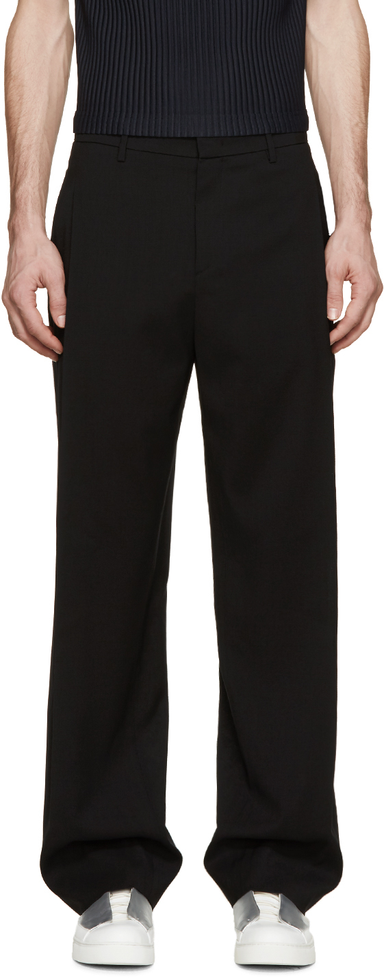 straight trousers - Black Wooyoungmi n4JhHm