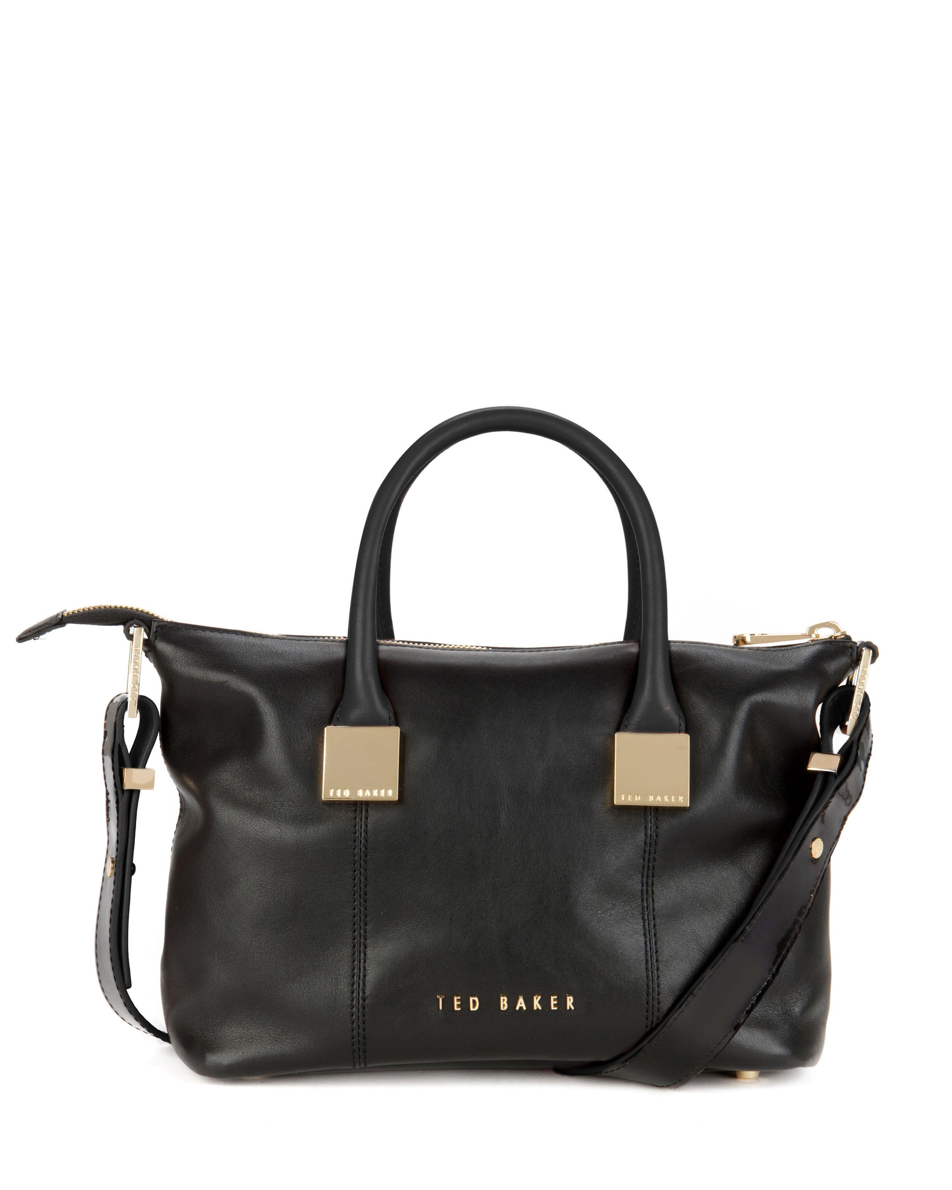 dde421f13b Ted Baker Felmar Small Leather Tote Bag in Black   Lyst