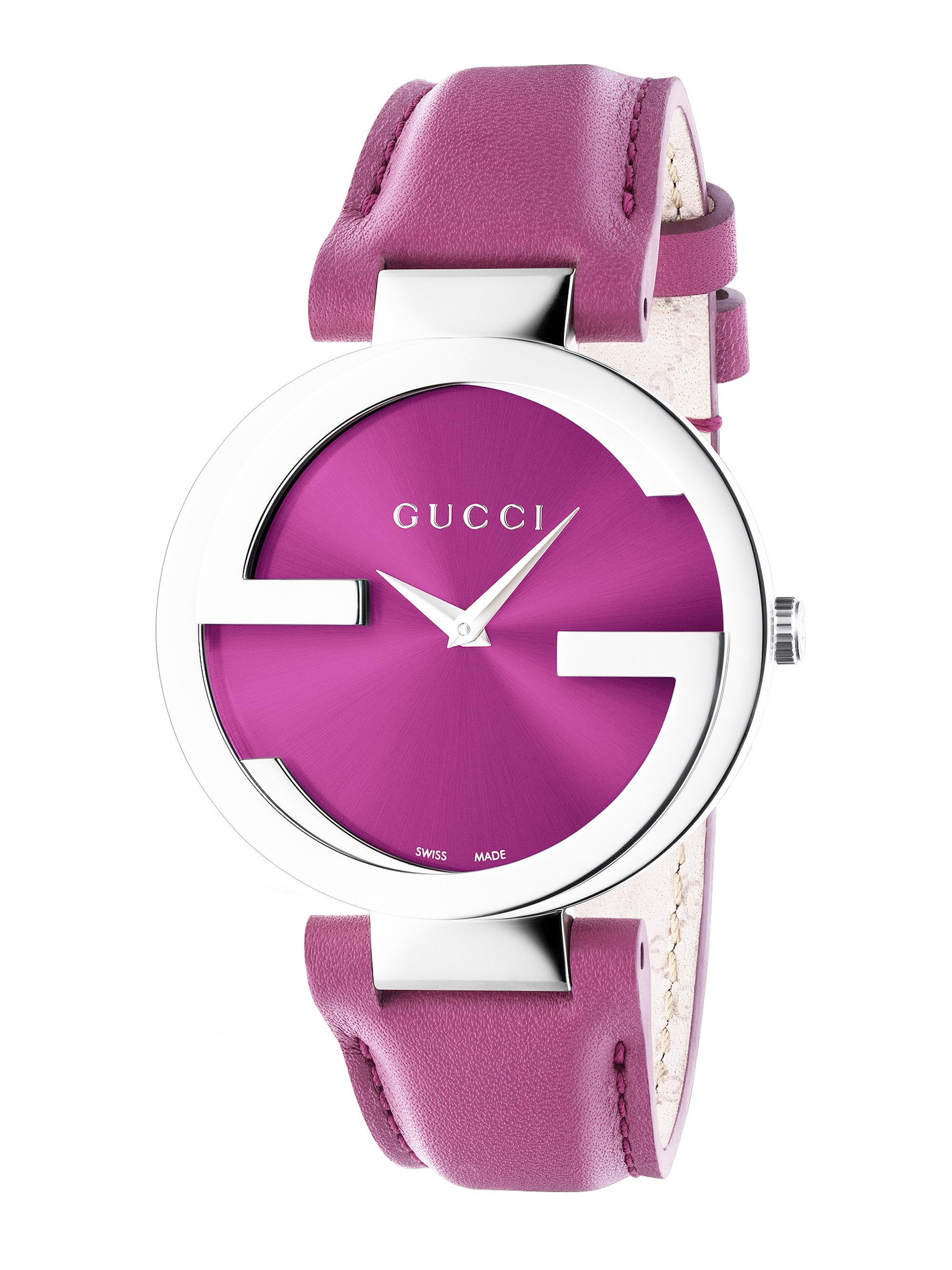 tropical darkpink dark women tone silicone s inspired silver strap pink guess silvertone watches womens p watch