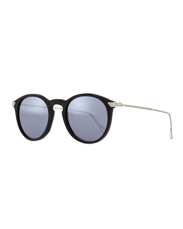 Lyst kyme mark round pantos mirror sunglasses in metallic for Mirror sunglasses