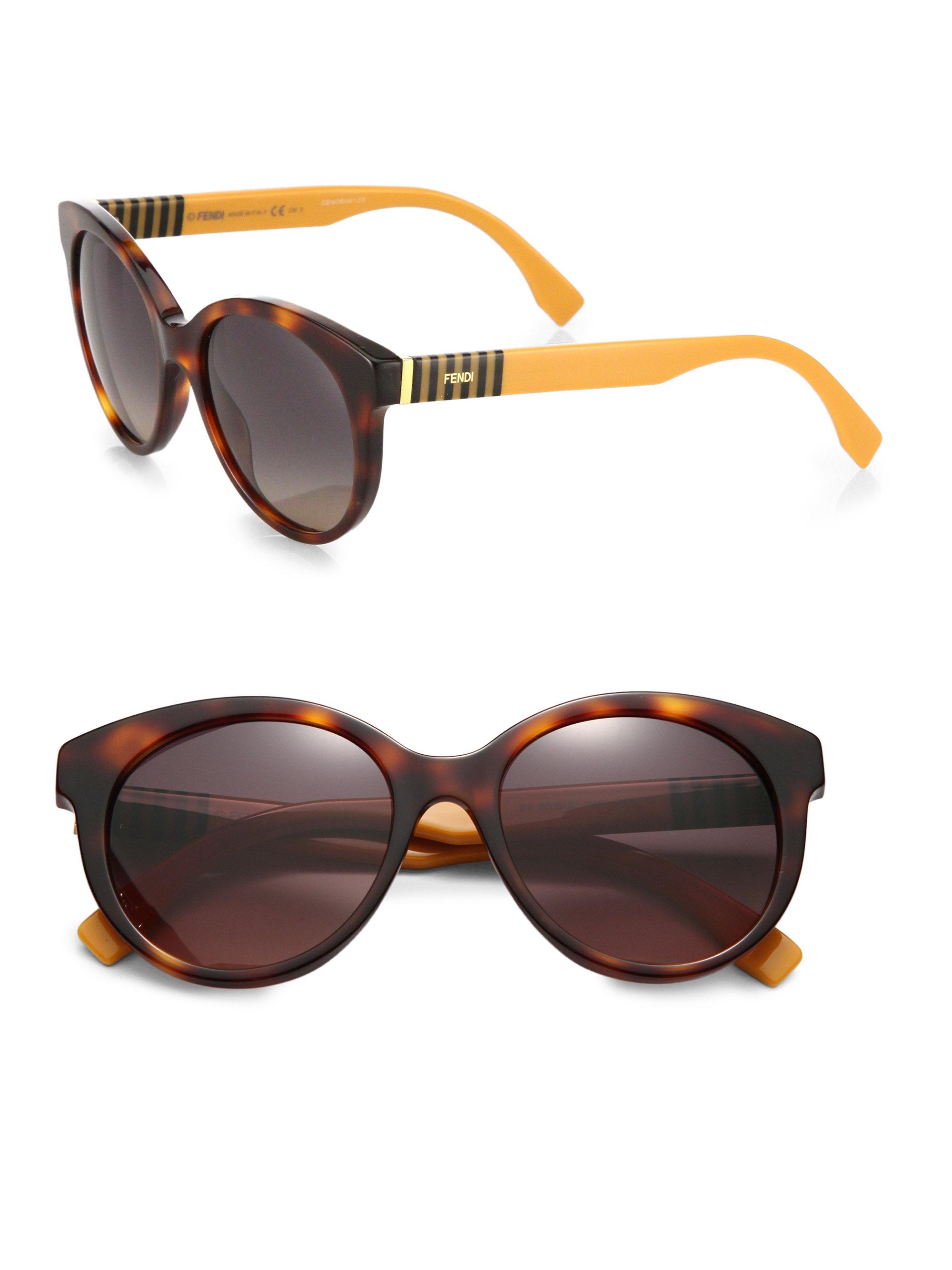 9d65c08a724f Lyst - Fendi Pequin Acetate Sunglasses in Orange