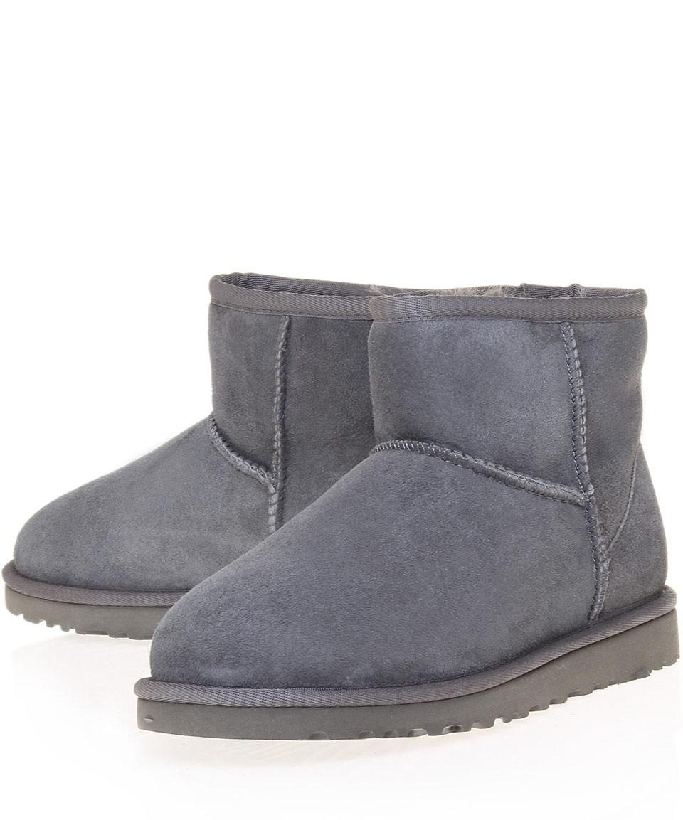 ugg grey mini boots