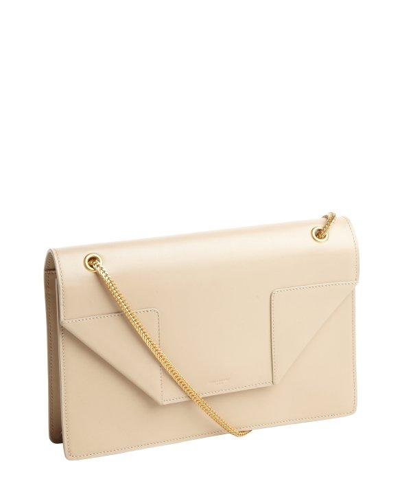 Lyst Saint Laurent Beige Patent Leather Betty Mini