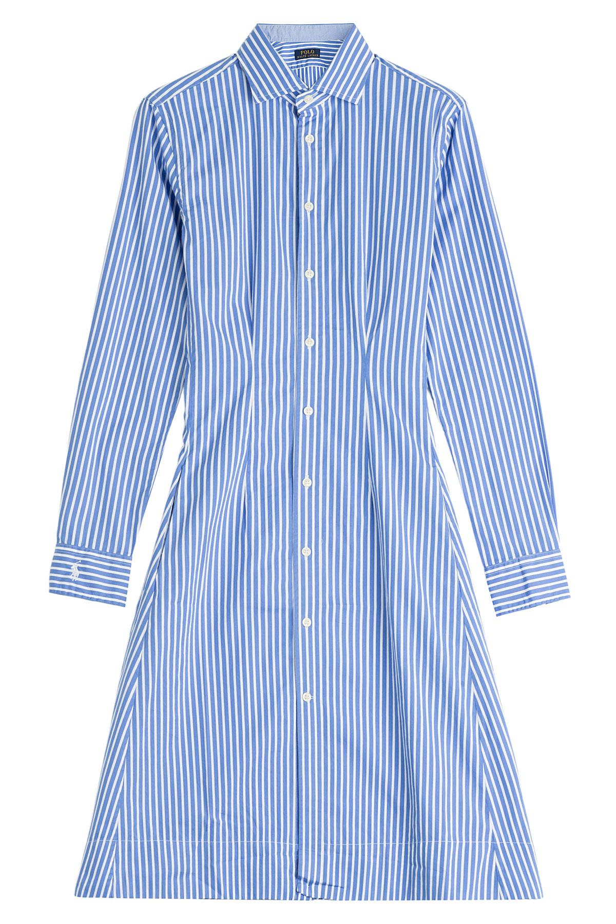 Polo Ralph Lauren Long Sleeve Olivia Cotton Shirt Dress In