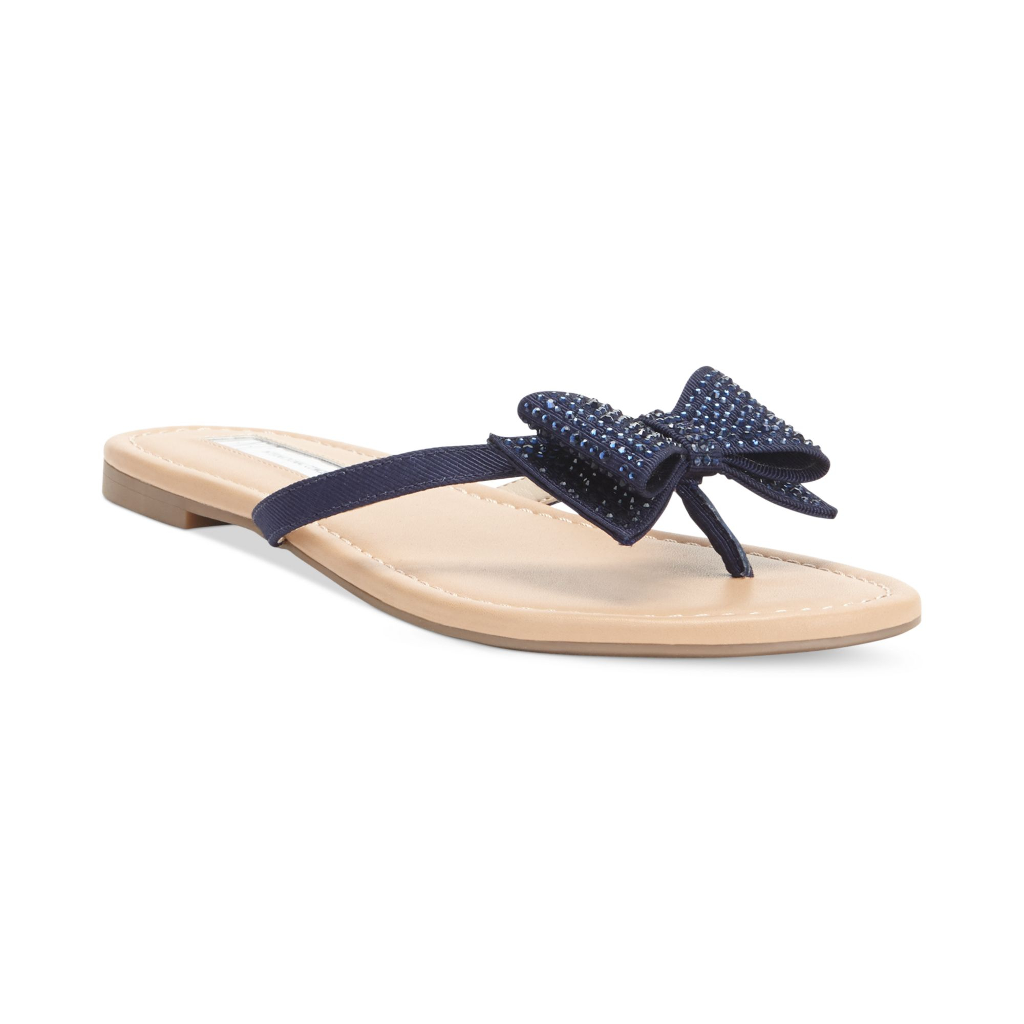 0db220a078eca Lyst - INC International Concepts Womens Maey Bow Thong Sandals in Blue