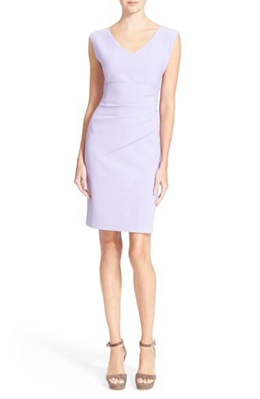 7b9b78a1 Diane von Furstenberg 'bevin' Ruched Sheath Dress in Purple - Lyst
