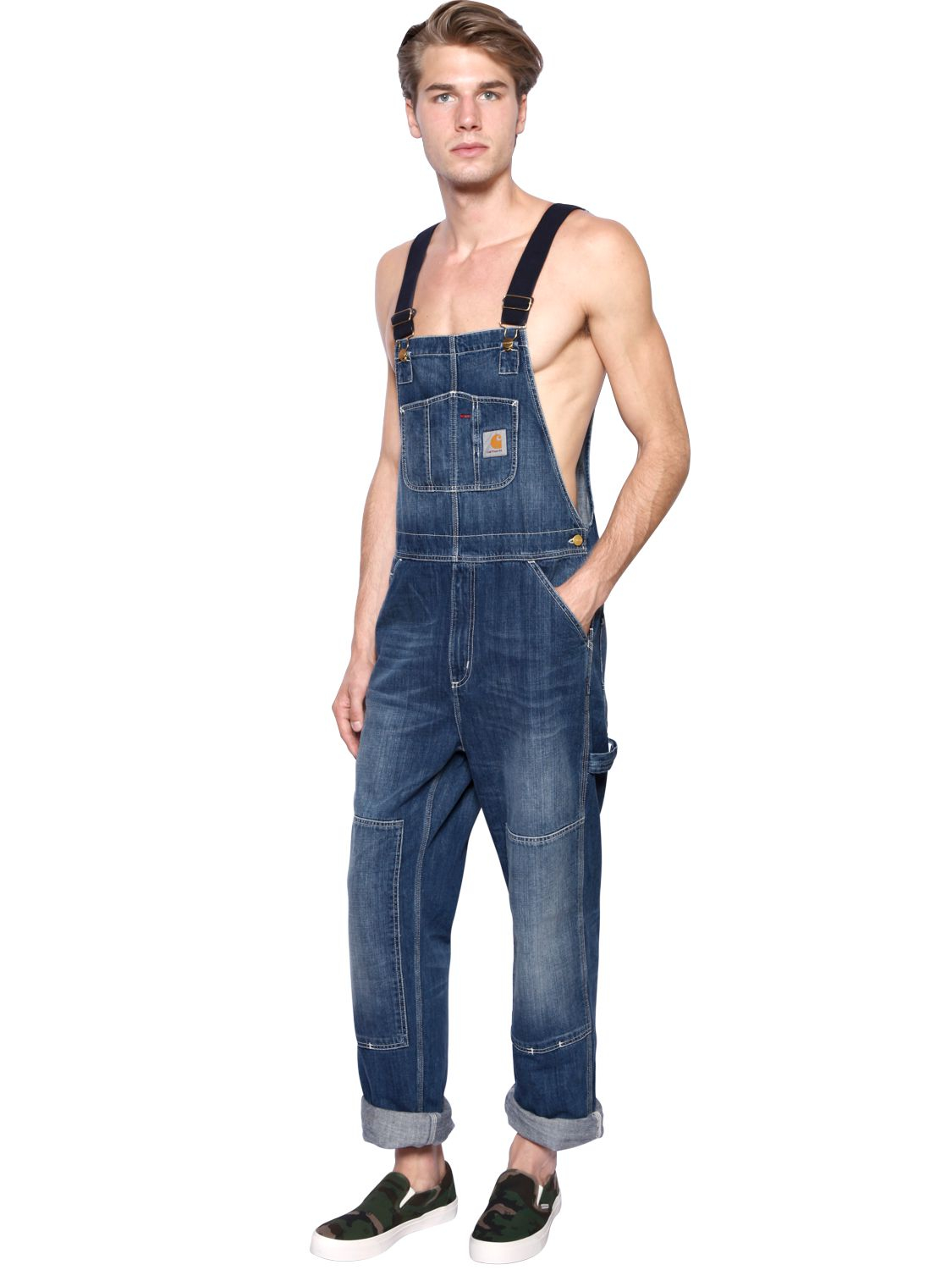 Carhartt Men's Denim Bib Overalls are the perfect workwear choice for any season. Made of oz., % rigid denim, it features multiple tool and utility pockets, hammer loop and front elastic suspenders/5(35).