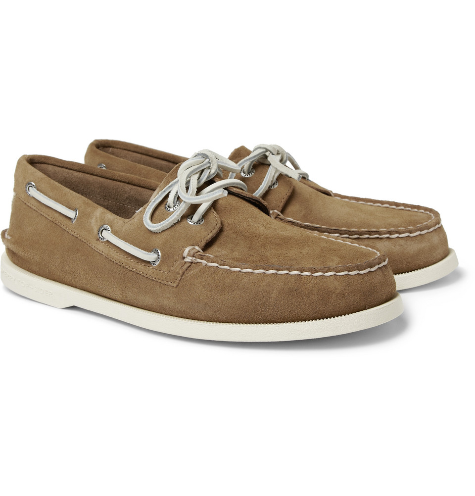 sperry top sider authentic original suede boat shoes in