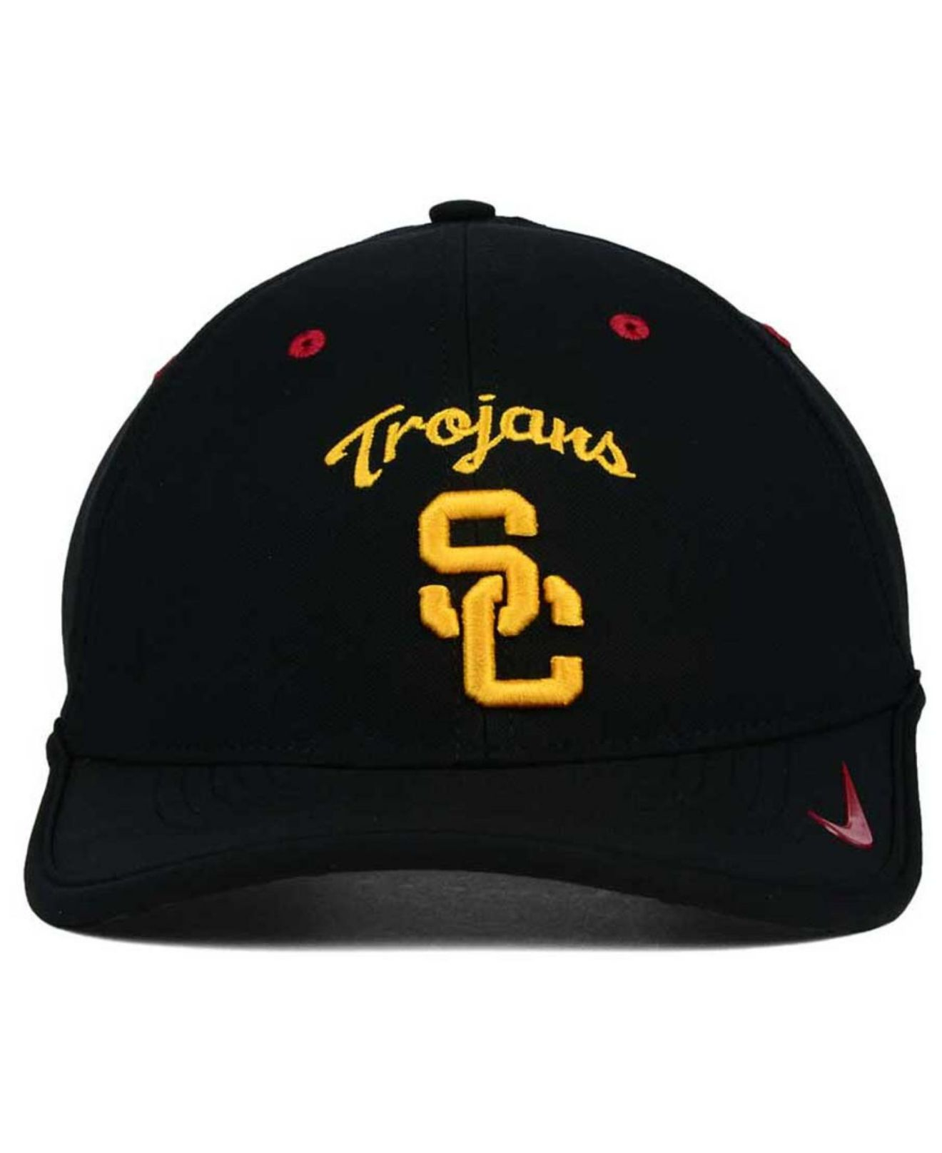 finest selection 33074 4d611 best price lyst nike usc trojans dri fit coaches cap in black for men aad37  d809a