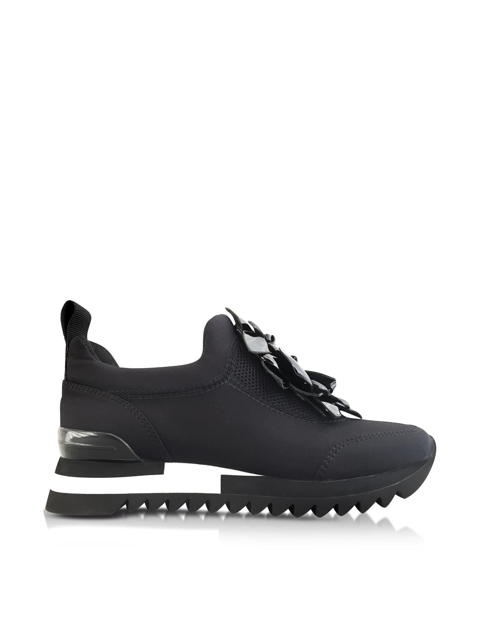eedc61d00358 Lyst - Tory Burch Blossom Black Neoprene Sneaker in White