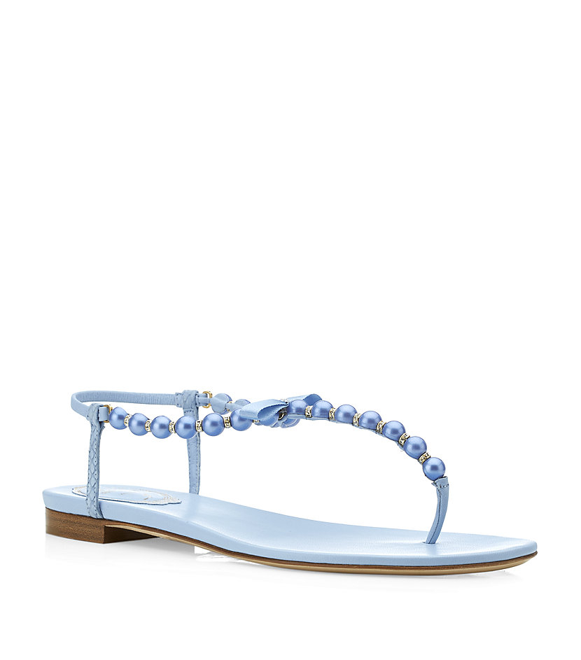 Rene Caovilla Pearl Sandals in Blue - Lyst