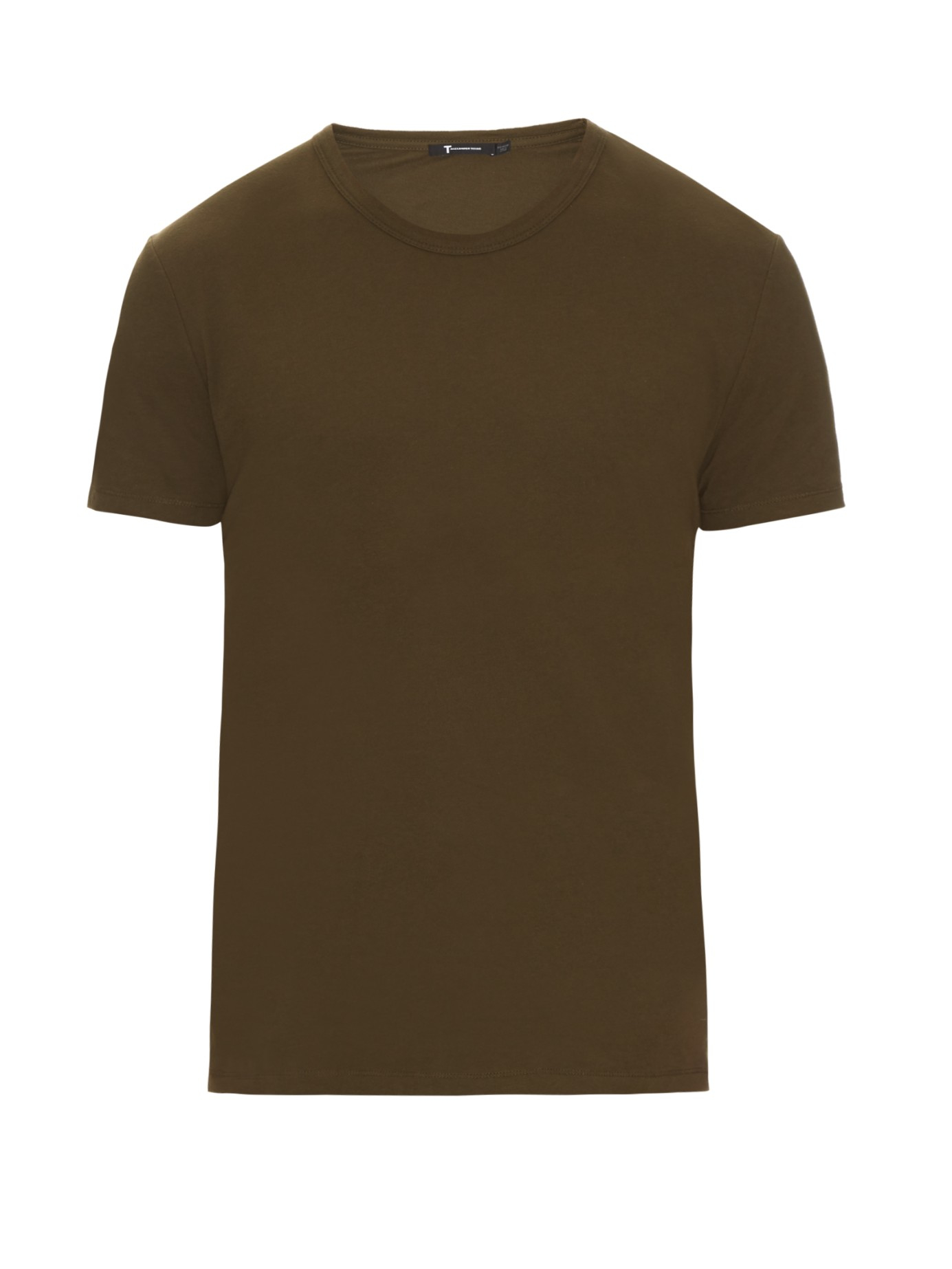 Alexander Wang Crew Neck Cotton Jersey T Shirt In Green