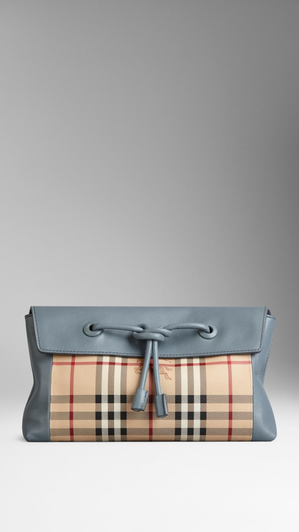 7f2c7a7f4776 Lyst - Burberry Small Leather and Haymarket Check Clutch Bag