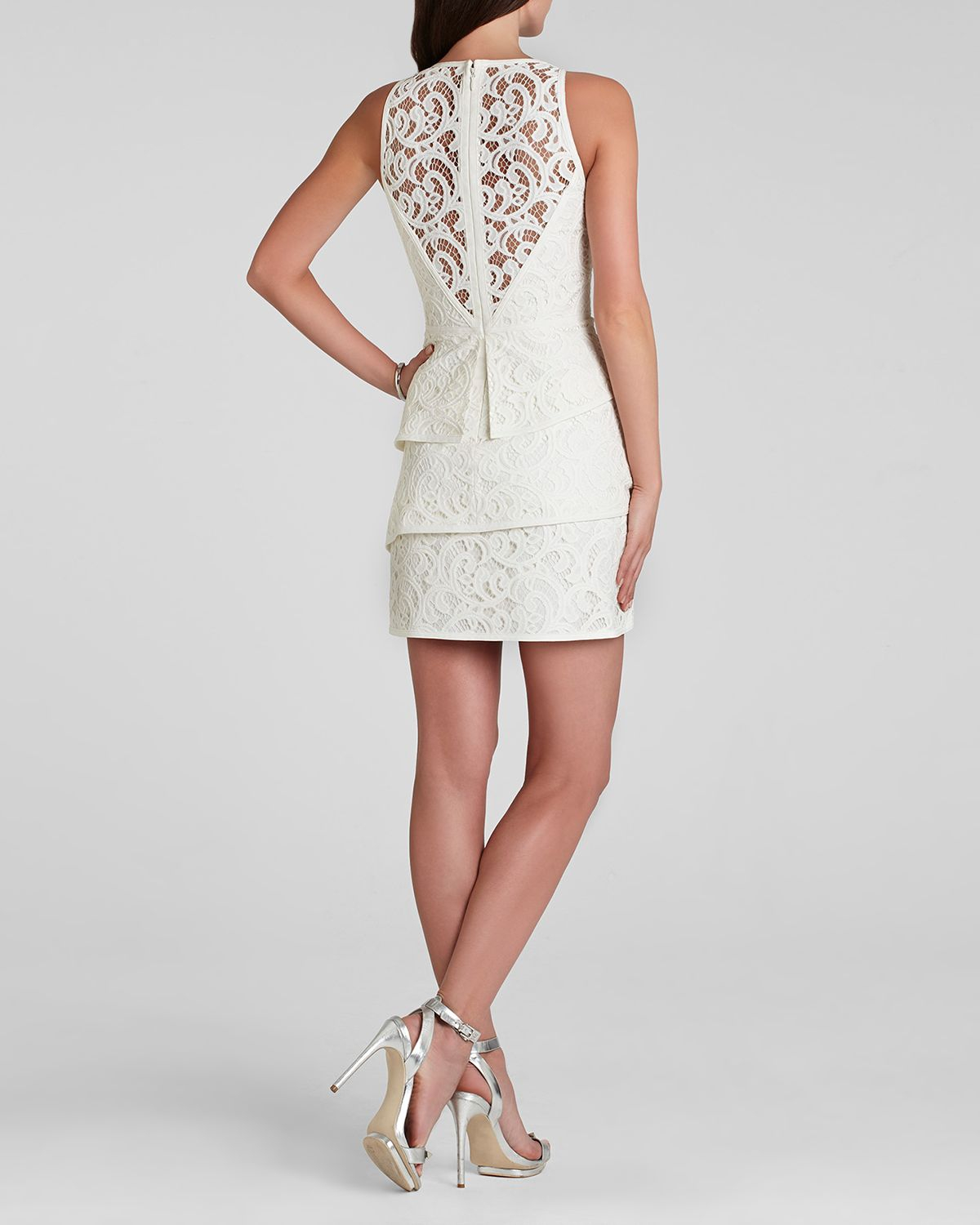 Bcbgmaxazria Bcbg Max Azria Dress Hanah Sleeveless Lace
