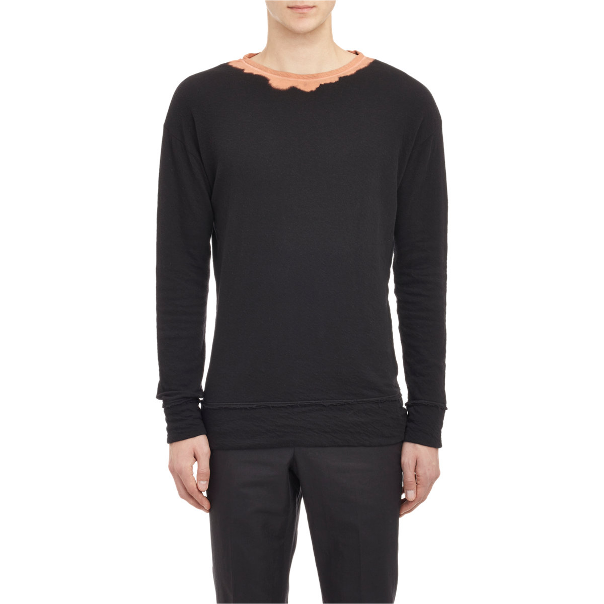 Lyst bottega veneta bleached long sleeve t shirt in for Bottega veneta t shirt