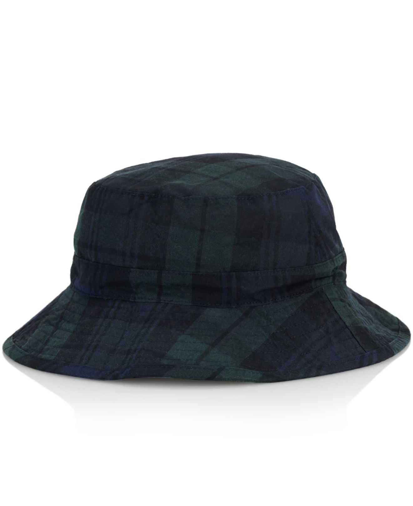 Lyst - Polo Ralph Lauren Tartan Oilcloth Bucket Hat in Black for Men 0b8b019b228