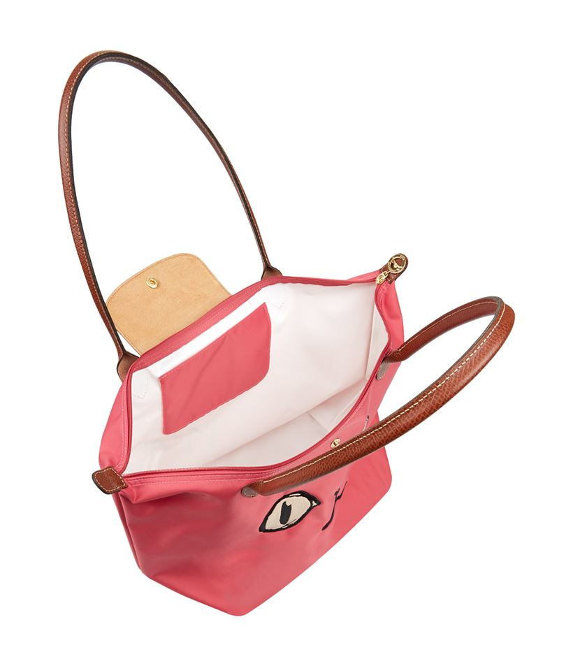 380c76a98884 Longchamp Le Pliage Miaou Small Shoulder Bag in Pink - Lyst