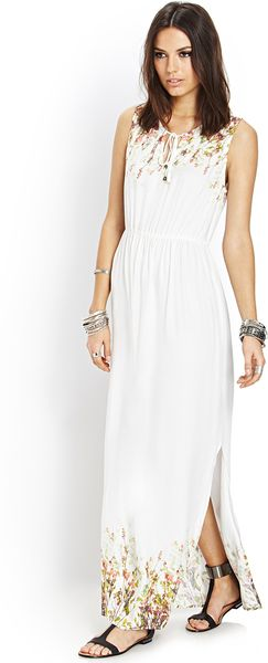 fd7f9774e2 Forever 21 Spring Muse Maxi Dress in White (IVORYGREEN)