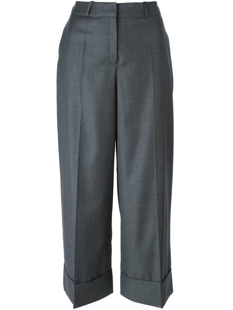 Hem Berlin lyst lala berlin turn up hem cropped trousers in black
